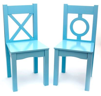 Picture of Child's Chairs, Set of 2 (Light Blue or Light Pink)
