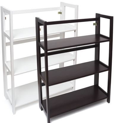 Picture of 3 Shelf Folding Bookcase (White or Espresso)