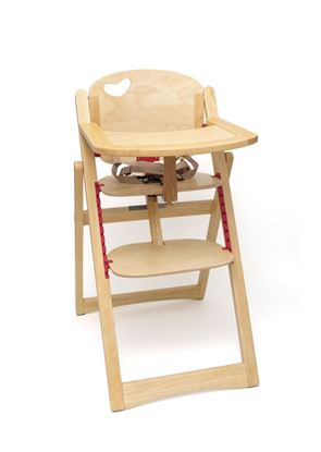 Picture of Child's Folding High Chair, Natural Finish