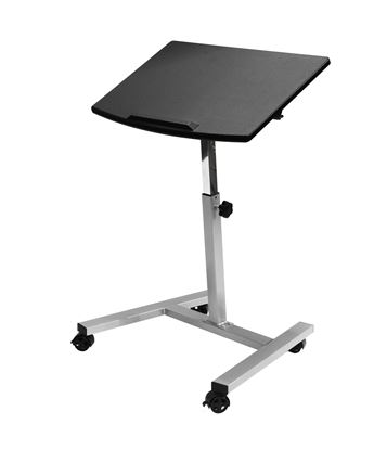 Picture of Tilting Mobile Laptop Desk Cart, Black