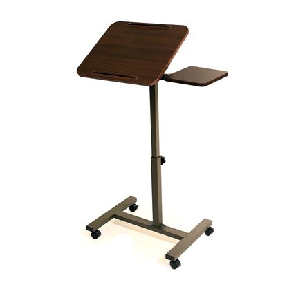 Picture of Sit-Stand Desk Cart with Side Table