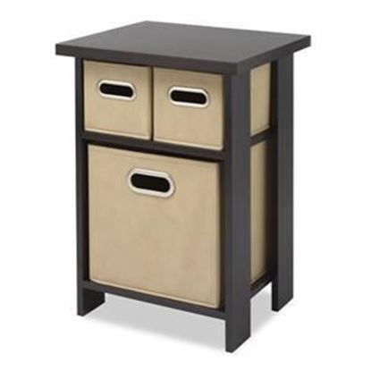 Picture of Accent End Table / Nightstand with Removable Bins, Weathered Gray or Espresso