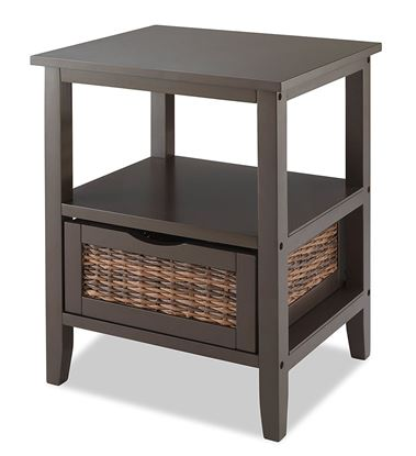 Picture of Bahama 1 Drawer Accent End Table - Espresso