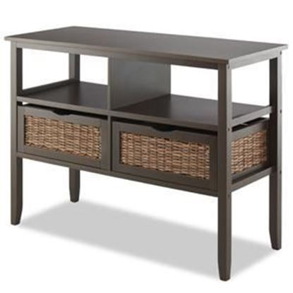 Picture of BAHAMA 2-Drawer Storage Console Entryway Table, Espresso