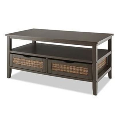 Picture of BAHAMA 2-Drawer Storage Coffee Table, Espresso