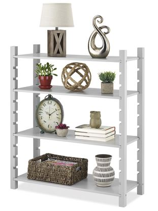 Picture of Modular 4 Tier Shelving (Gray, Walnut or Walnut & Gray)