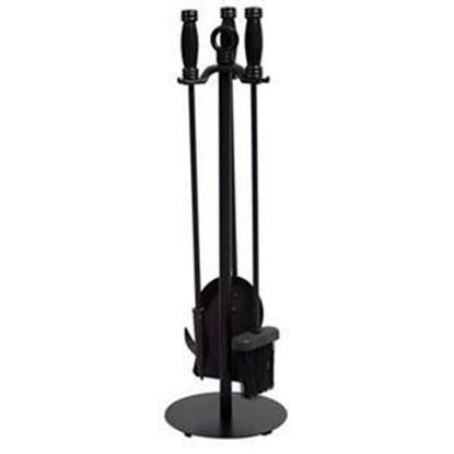 Picture of 4 Pc Black Wrought Iron Fireset