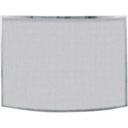 Picture of Single Panel Curved Pewter Finish Screen