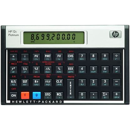Picture of HP 12C Platinum Financial Programmable Calculator