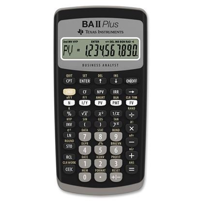 Picture of Texas Instruments BA-II Plus Advance Financial Calculator