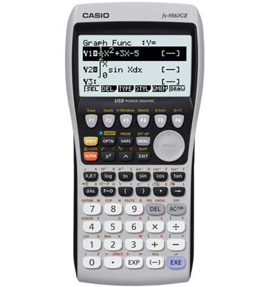 Picture of Casio FX-9860GII Backlit Graphing Calculator