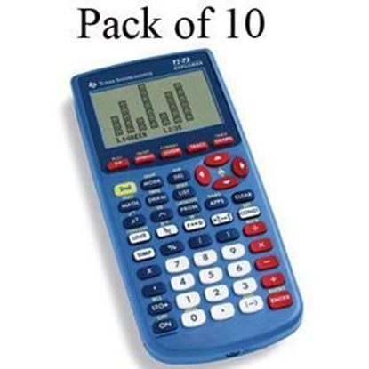 Picture of Texas Instruments TI-73 Explorer Graphing Calculator - Teachers 10 Pack