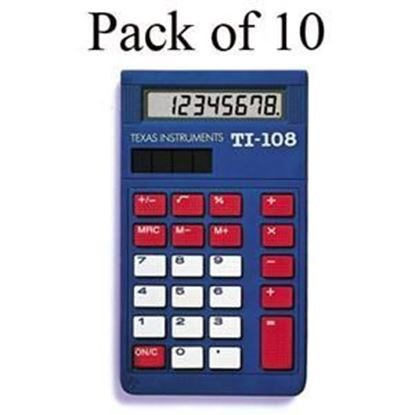 Picture of TI-108 Elementary Calculator - Teachers 10 Pack