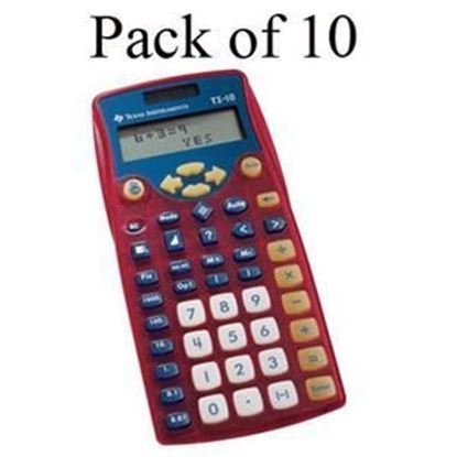 Picture of Texas Instruments TI-10 Elementary Calculator - Teachers 10 Pack
