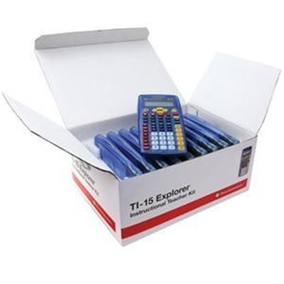 Picture of Texas Instruments TI-15 Explorer Elementary Calculator - TEachers 10 Pack