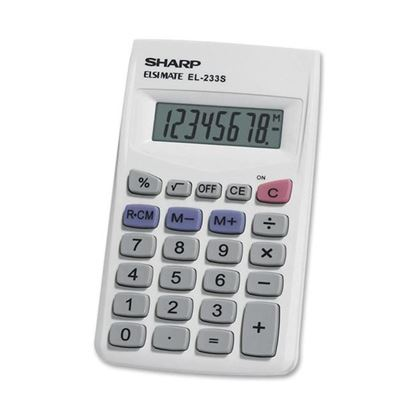 Picture of Sharp EL-233SB 8-Digit Pocket Calculator