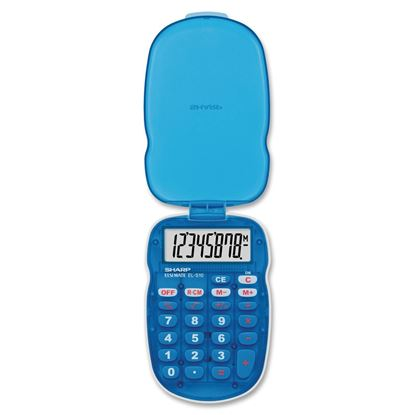 Picture of Sharp EL-S10 Handheld Calculator (Blue or Pink)
