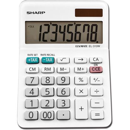 Picture of Sharp EL-310WB 8 Digit Professional Mini-Desktop Calculator
