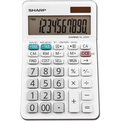 Picture of Sharp EL-330WB 10 Digit Professional Desktop Calculator