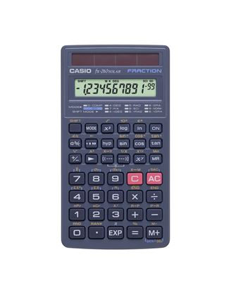Picture of Casio FX 260 SOLAR II Scientific Calculator (Black or Pink)