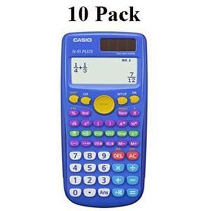 Picture of Casio FX-55 Plus Fraction Calculator - Teachers 10 Pack