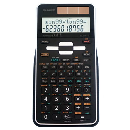 Picture of Sharp Calculators EL-531TGBxx Scientific Calculator with 2 Line Display  - Black or White