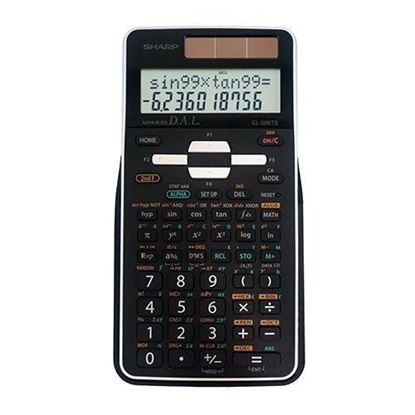 Picture of Sharp EL-506TSBBW Scientific Calculator with 2 Line Display