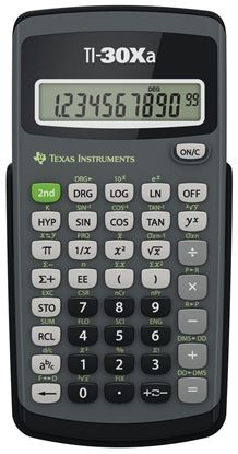 Picture of Texas Instruments TI-30Xa Scientific Calculator - Test Edition