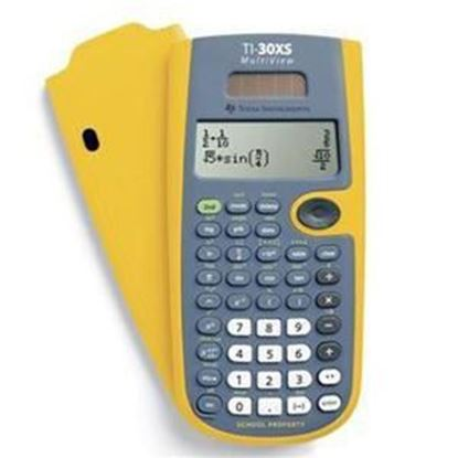 Picture of Texas Instruments TI-30XS Scientific Calculator - Yellow School Edition