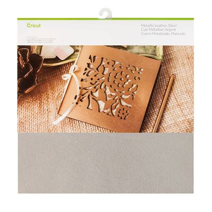 Picture of CRICUT Soft Metallic Leather, Silver
